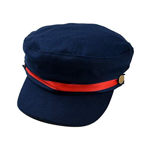Fhhyy Militaire paraplu, marineblauw, wol, vlak, voor vrouwen, militair, kapiteinmuts, verstelbaar, voor dames, vintage, voor lente, herfst, leger