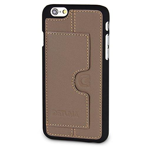 detuma Sima Carcasa para móvil iPhone 6S/6, de cuero auténtico, carcasa trasera, protectora, con tarjetero, Roys Etop (multicolor) - D003-R02-2-IP6