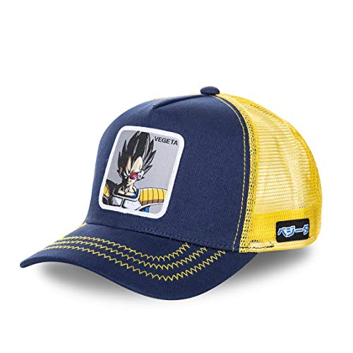 Collabs Dragon Ball Z Vegeta Trucker Gorra Hombre Azul