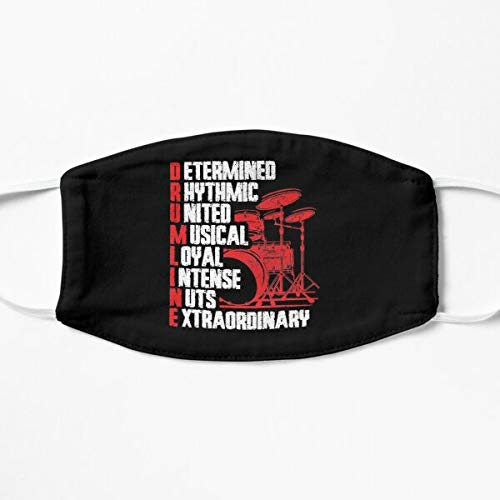 Drummer Inspirational Quote Funny Drumming Gift Mask