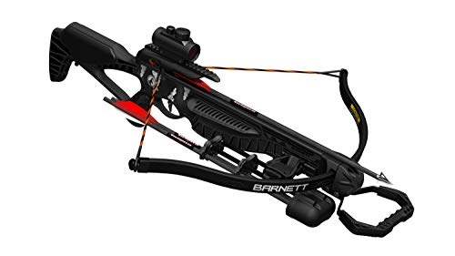 Barnett Blackcat Recurve Crossbow | Recurve Crossbow with Red Dot Sight, Arrows & Quiver| 260 Feet Per Second, Black Strike