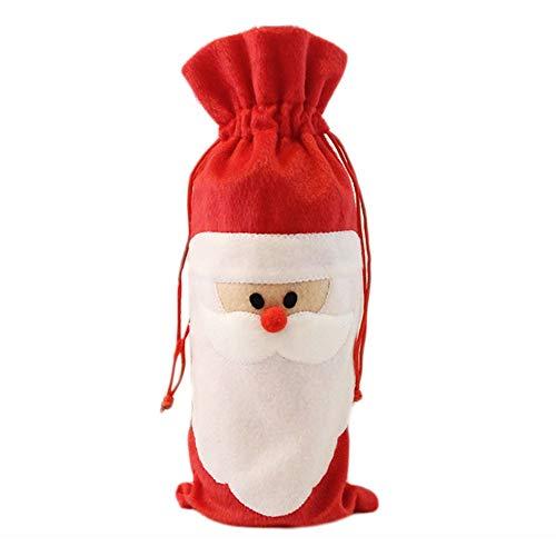 N-K Bolsa de vino tinto, bolsa de regalo de Navidad, botella de vino tinto con cordón, diseño práctico y duradero