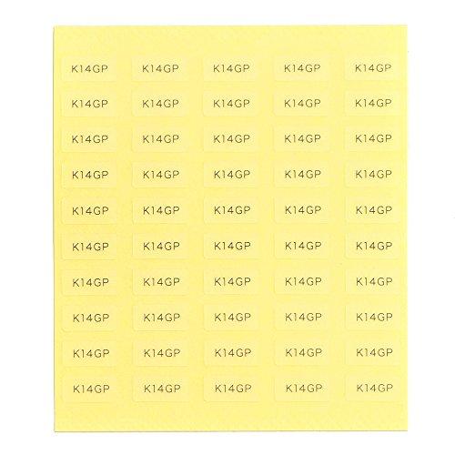 台紙用シール 10×5mm 日本製 アクセサリー台紙用 (K14GP・透明, 250枚)