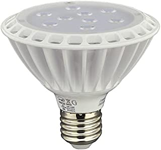 LEDwholesalers UL Approved PAR30 LED Spot Light Bulb with Interchangeable Flood Lens, 11 Watt, Short Neck, Warm White, 1337WW