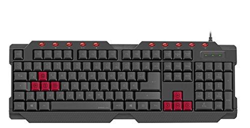 Speedlink FERUS Gaming Keyboard - USB full size Tastatur - 10 Zusatztasten - austauschbare Tasten - schwarz - ES Layout