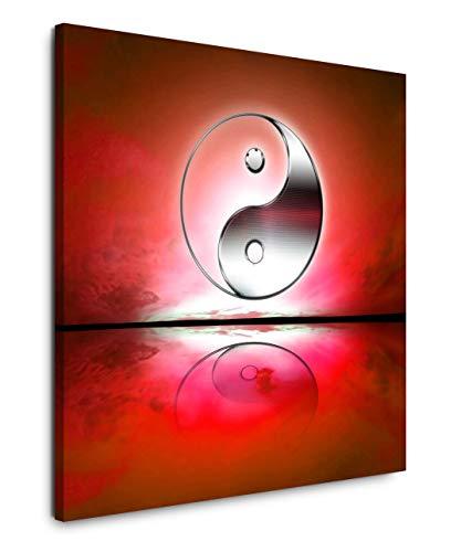 EAUZONE GmbH Yin und Yang 60x60cm Wandbild auf Leinwand, Kunstdruck Moderne Bilder