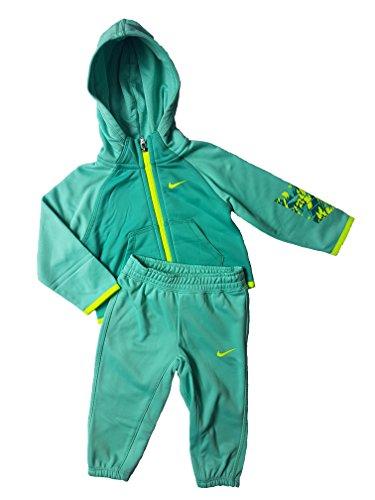 Nike Kinderanzug Dri-Fit Kids Jacke und Hose Unisex (18-24 Monate, Türkies/Neongelb)