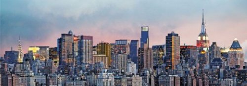1art1 40529 New York - Manhattan Skyline 8-delig, fotobehang posterbehang (366 x 127 cm)