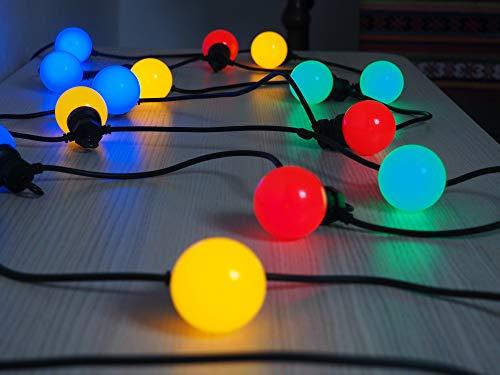 Guirlande Guinguette elume party! multicolore raccordable 20 lampes LED 6m