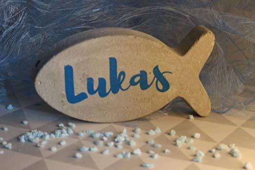 Beton Fisch | Geschenk | Tischdeko | Taufe | Kommunion | Geburt