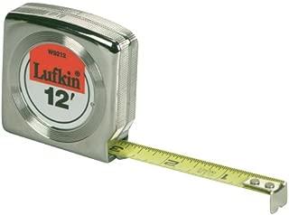 Lufkin W9312D Mezurall Engineer's  Power Return Tape, 3/4-Inches Wx12-Feet, Chrome plated