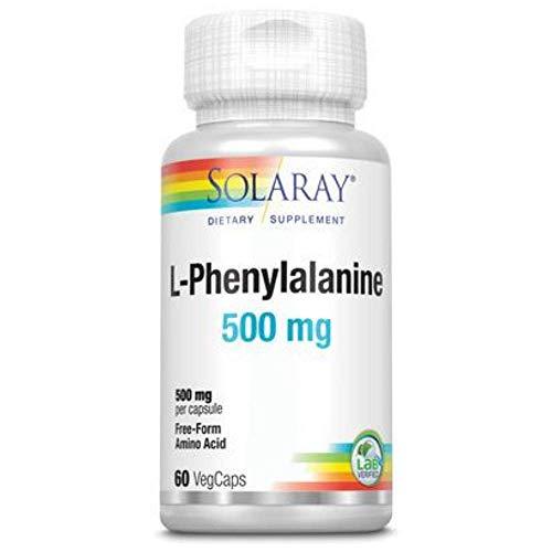 Solaray L-Phenylalanine 500mg | L-Fenilalanina | 60 VegCaps