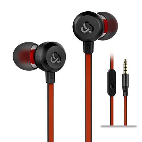 RONSHIN Headphones//Earphones//Earbuds Universal Double Moving Coil Bass in-Ear Headphones Double Speakers with Microphone for Mobile Phone White+Silver