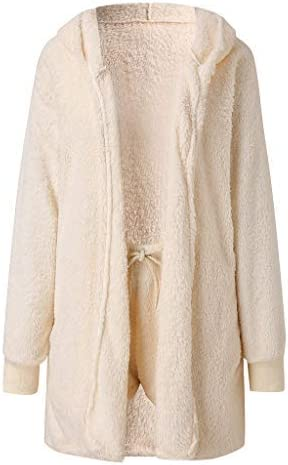 Womens Winter Plush Max 46% OFF Popular brand in the world Casual Sportswear 2 Long Piece Sleeves Solid