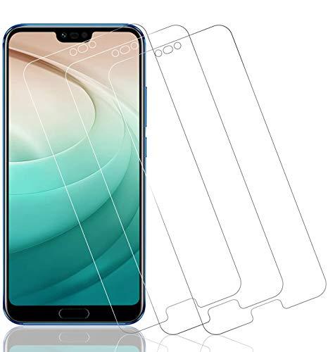 Wiestoung Pellicola salvaschermo in vetro temperato per Huawei Honor 10, [3 pezzi] Cover 3D completa con protezione antigraffio, antiriflesso, 9H, protezione dello schermo in vetro per Huawei Honor 10