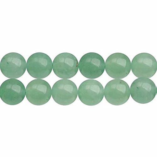 Naturali Pietre Dure Perline per Creare di Gioielli Avventurina Verde Tonde 10mm Circa 38cm un Filo 35 Perline