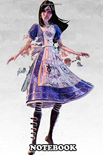 Notebook: Alice Madness Returns , Journal for Writing, College Ruled Size 6' x 9', 110 Pages