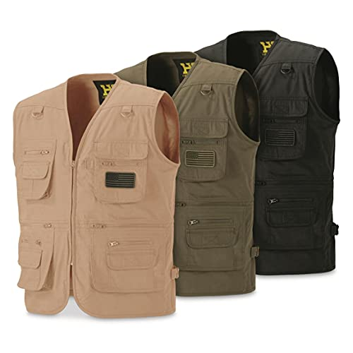 HQ ISSUE Concealed Carry Vest for Men, Tan, XL