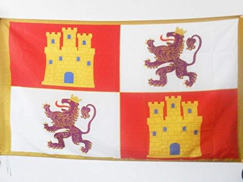 Zudrold Corona de Castilla 1230 1715 Bandera 3 'x 5' para Poste Banderas del Reino de Castilla Bandera de 90 x 150 cm 3x5 pies con Agujero