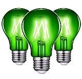 3Pack Green LED Edison Light Bulbs, 6W(60Watts Equivalent) Medium E26 Base, Dimmable…
