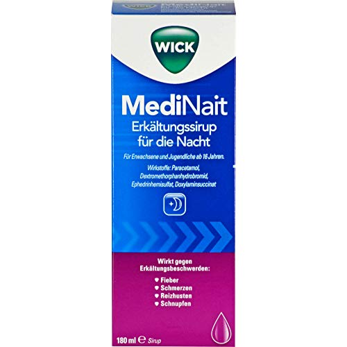 WICK MediNait Erkältungssirup für die Nacht, 180 ml Lösung