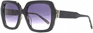 French Connection Womens Premium Chunky Square Sunglasses - Black