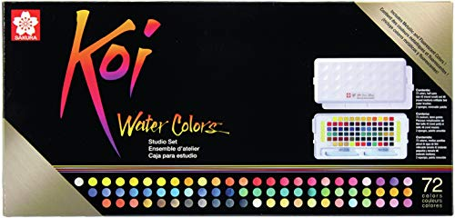 Sakura Studio Set Koi Watercolor Kit, 72 colors, Assorted