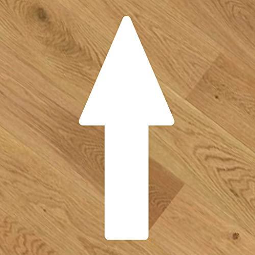 20 Pegatinas de vinilo para suelo, antideslizante, Flecha dirección [20x8,5cm]