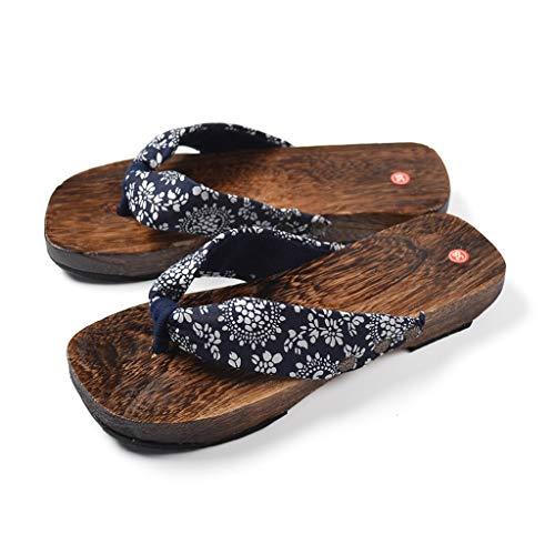 Pantuflas Pantuflas Zapatos Tradicionales De Madera Japoneses, Zapatillas Para Mujeres, Sandalias Y Zapatillas Para Exteriores Para Mujer, Diseño Ergonómico De Flip-flops, Estampado De Estilo Chino