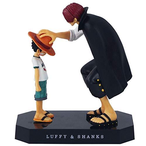 Plushe Anime One Piece Modelo de Mano: Recuerda a Shanks y Monkey D. Luffy Toca la Cabeza 12cm