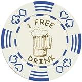 Spinettis 100 Free Drink Poker Chips Tokens for Restaurants OR BAR - Beer Mug