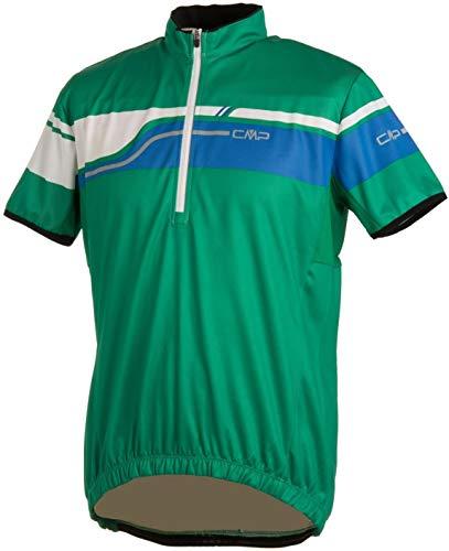 Campagnolo Man. Bike. T-shirt. Rayures Vert, vert, m