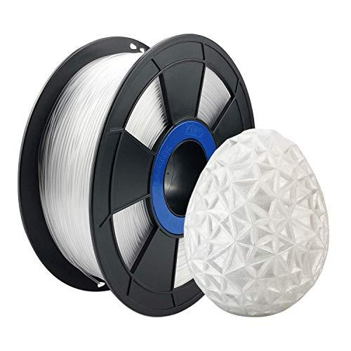 ZIRO PETG Filament 1.75mm 3D Printer Filament PETG 1.75 1KG(2.2lbs), Dimensional Accuracy +/- 0.03mm,Transparent
