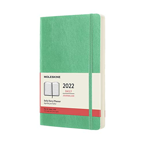 Moleskine Classic 12 Month 2022 Daily Planner, Soft Cover, Large (5 x 8.25), Ice Green