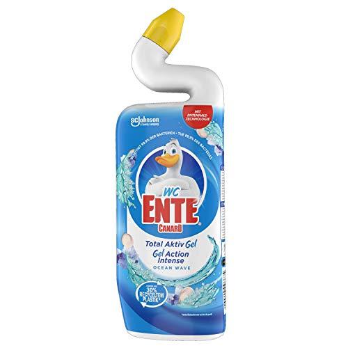 WC-anka total aktiv gel, flytande WC-rengöring, marinblå, 750 ml