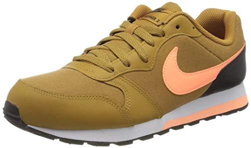 Nike MD Runner 2 (GS) Laufschuh, Wheat Orange Pulse Black White, 36.5 EU