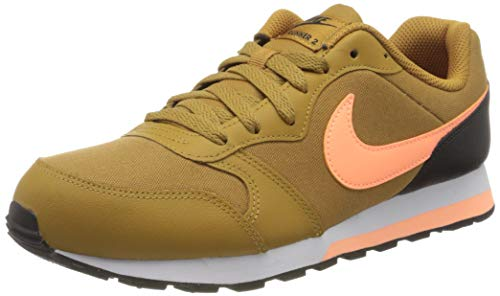 Nike Jungen MD Runner 2 (GS) Laufschuh, Wheat Orange Pulse Black White, 35.5 EU