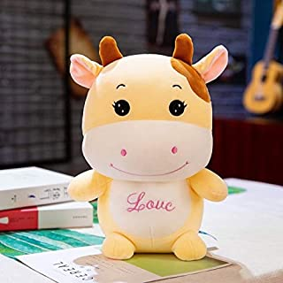 VIDANL Height Large Plush Cute Cow Doll Toy Cute Stuffed Cow Sleep with Doll Xmas Gift Birthday Gift Must Have Items Gift Box The Favourite Anime Superhero Party Decorations UNbox Me