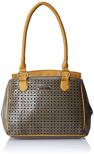 Peperone Faux Leather Women'S Handbag (Grey)