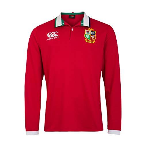 Canterbury Herren Rugby-Trikot British and Irish Lions, langärmelig XL Rot - Tango Red