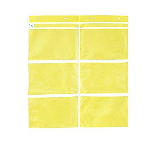 B Blesiya 1 Pieza Bolsa de Almacenamiento Colgante Limpiadores y Productos de protección para Muebles de jardín - Yellow 6 Slots