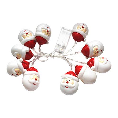 LED Weihnachten Weihnachtsmann String Lichterketten mit 10 LED-Lampen für Indoor-und Outdoor-Dekorationen 0.5W Weißlicht
