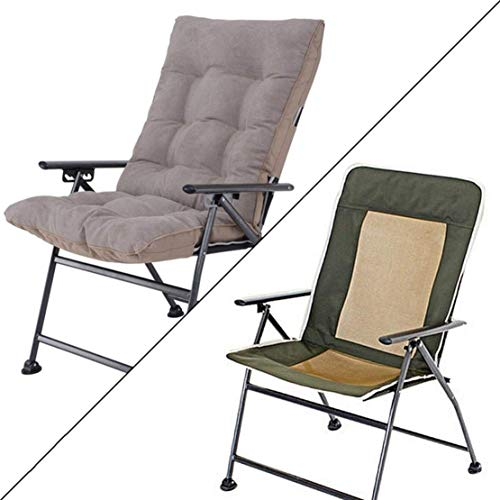 opvouwbare campingstoel Huishoudelijke Eenvoudige Casual Klapstoel/Buitentuin Draagbare stoel/Balkon Kantoor Ruimtebesparend Praktische fauteuil met kussen Strand Ligstoelen