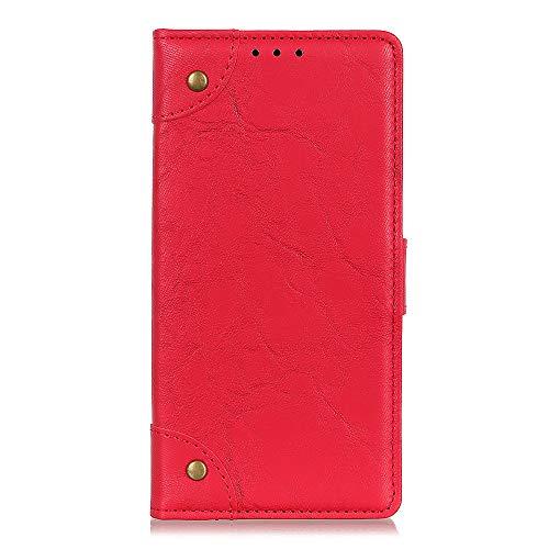 Brieftasche Schutzhülle für Asus ROG Phone 3 Strix ZS661KS Hülle mit Kartenfach Etui Standfunktion & Magnetisch Handyhülle Leder Flip Lederhülle für Asus ROG Phone 3 Strix ZS661KS (Rot)