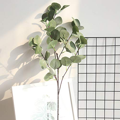 ToDIDAF 1 x Kunstblumen Eukalyptus Kunstpflanze Künstliche Blumen Künstliche Pflanze Brautstrauß, Für Weihnachten Muttertag Valentinstag Hochzeit Party Wohnzimmer Cafe DIY Deko 84 cm (Grün)