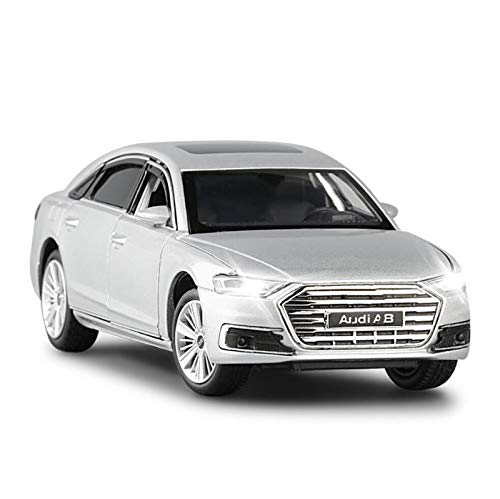 Modellini in Scala 1:32 per Audi A8 Model Cale Diecast Metal Toy Sound Light Car Doors Openable Educational Collection Gift (Size : 2)