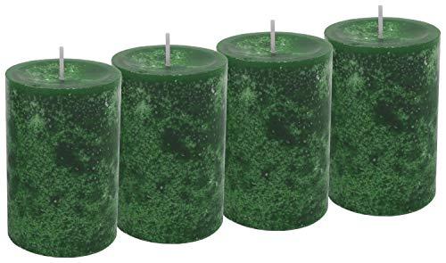 Unbekannt 4 Stumpenkerzen Kerzen Dunkelgrün Grün Adventskranz Weihnachten Tischdeko Deko