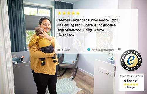 Könighaus Fern Infrarotheizung – Bildheizung in HD Qualität mit TÜV/GS – 200 Bilder – mit Könighaus Smart Thermostat und APP für IOS/Android – 600 Watt (115. Schmetterling Blume) Bild 6*