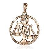 XYBB 12 Constelación Zodiaco Collar Colgante Hombre Firma del Collar del Acero Inoxidable de Las Mujeres Hombres de Las Mujeres de la Cadena de joyería de Moda Regalo (Metal Color : Libra)