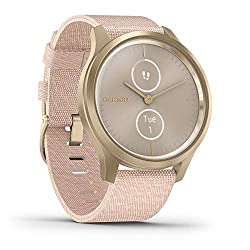 pink and gold smartwatch